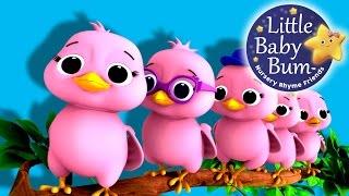 "getlinkyoutube.com-Five Little Birds | Nursery Rhymes | Original Song based on ""5 Little Ducks"" by LittleBabyBum!"
