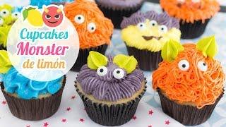 getlinkyoutube.com-Cupcakes Monster de Limón | Especial Halloween | Quiero Cupcakes!