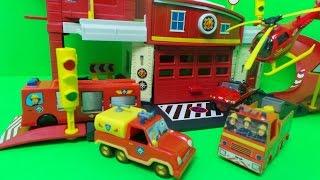 getlinkyoutube.com-Feuerwehrmann Sam RettungsStation  Fireman Sam Fire Rescue Centre Toy Unboxing