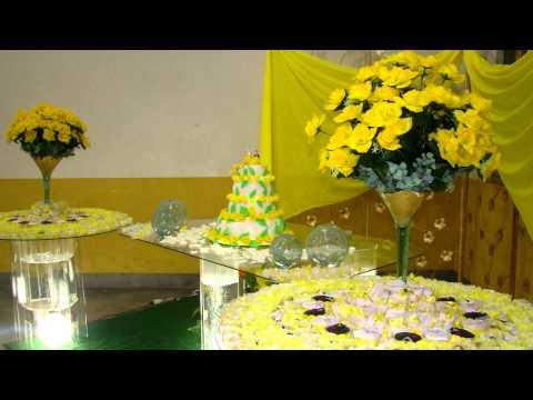 Ornamentação Casamento Amarelo