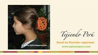 getlinkyoutube.com-Sujetador de cabello tejido en crochet