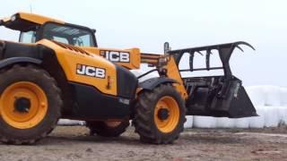 getlinkyoutube.com-(SCR) Mieszanie paszy dla bydła - JCB 527-58 AGRI nowy nabytek