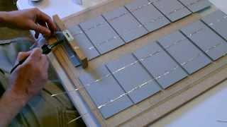 getlinkyoutube.com-How to make a Solar Panel - Wiring, Soldering, and Cell Layout - Explained Simply!