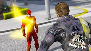 getlinkyoutube.com-The Legendary Flash VS Green Goblin ! Super Speed vs Technology (GTA 5 Ultimate Flash Mod)🏃🏽⚡️