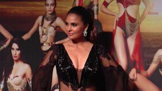 Lara Dutta Flaunts Hot Cleavage In Sheer Dress At Yamaha Fascino Miss Diva 2017