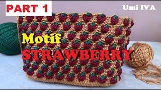 Tutorial Merajut Motif Strawberry _Crochet_PART 1