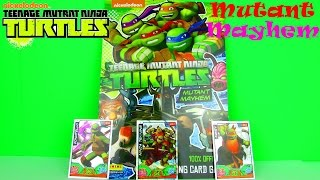 teenage mutant ninja turtles: mutant mayhem trading cards review & pack opening, panini