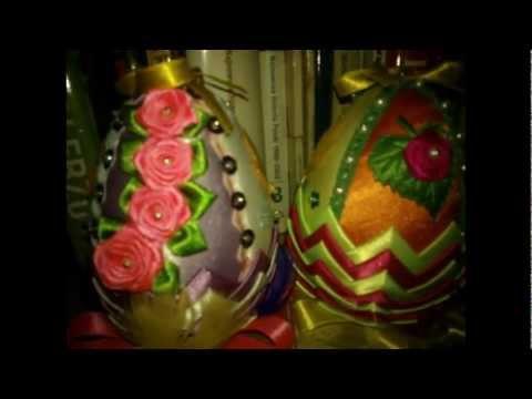 Origami modułowe i jajka wielkanocne.