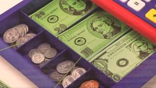 getlinkyoutube.com-Pretend & Play Calculator Cash Register from Creative Kidstuff