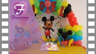 getlinkyoutube.com-Decoracion infantil Mickey Mouse