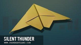 getlinkyoutube.com-Papierflieger selbst basteln. Papierflugzeug falten - Beste Origami Flugzeug  | Silent Thunder