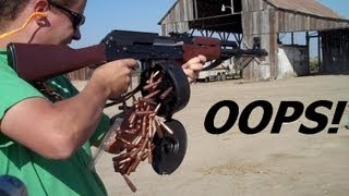 AK-47  Test Goes WRONG!  (unexpected but funny mishap)