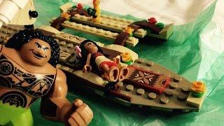 getlinkyoutube.com-Lego Moana Toys Unboxing Review Toy Story Playtime - Moana's Ocean Voyage 41150 Lego Maui