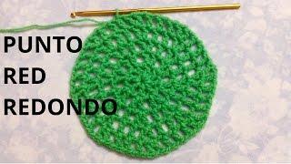 Como tejer el Punto Red en Redondo en tejido crochet tutorial paso a paso.