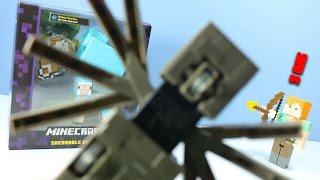 getlinkyoutube.com-Minecraft Survival Mode Figures Toys Crawling Spider Alex & Cyan Sheep