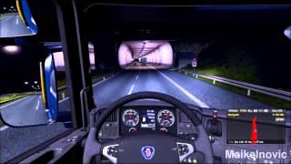 getlinkyoutube.com-Euro Truck Simulator 2 - SCANIA Streamline R560 V8 - Load To Dresden (D)