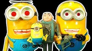 getlinkyoutube.com-Despicable Me Dark Side Knock Off Toys Ep1 Evil Minions Superbad Gru