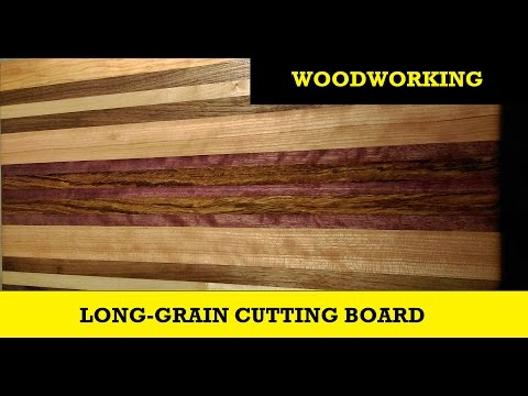 Long Grain Cutting Board - Five Different Hardwoods