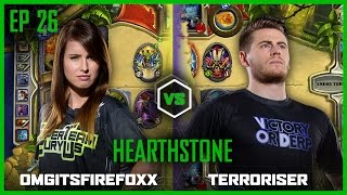 getlinkyoutube.com-EP 26 | HEARTHSTONE | OMGitsFirefoxx vs Terroriser | Legends of Gaming