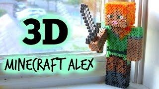 getlinkyoutube.com-3D Perler Bead Minecraft Alex Figure (FULL TUTORIAL)