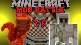getlinkyoutube.com-Iron Golem Vs. Kyuubi - Minecraft Mob Battles - Arena Battle- OreSpawn Mod