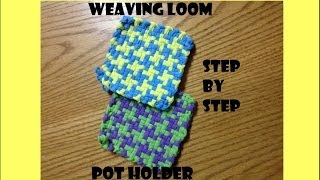 getlinkyoutube.com-Mary's Houndstooth Potholder Weaving Loom Tutorial