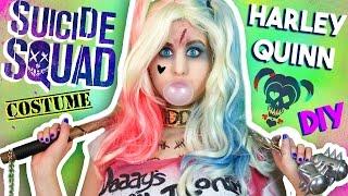 "getlinkyoutube.com-DIY Harley Quinn ""Suicide Squad"" Makeup, Wig & Costume | Last Minute Costume Idea!"
