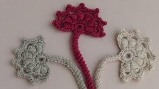 getlinkyoutube.com-Вязание крючком бутона цветка. Мотив для ирландского кружева.Урок вязания.