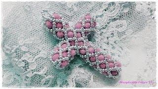 getlinkyoutube.com-Tutorial perline: come fare una croce con perline e cristalli (bicono swarovski o cipollotti)