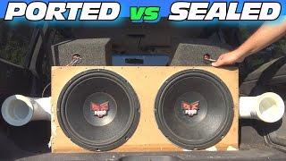getlinkyoutube.com-Ported vs Sealed Subwoofer Box w/ Adjustable Port Tuning & CLEAN Car Audio Install + LOUD BASS!!