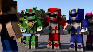 getlinkyoutube.com-Power Rangers IN MINECRAFT Minecraft Animation2