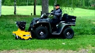 getlinkyoutube.com-Rammy Flail mower 120 ATV. Lawn mower ATV.