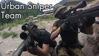 getlinkyoutube.com-Airsoft Sniper Gameplay - Scope Cam - Urban Sniper Team
