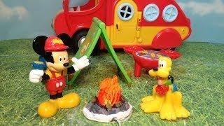 getlinkyoutube.com-MICKEY MOUSE CLUBHOUSE Disney  Mickey's Camper + Pluto Toys Video parody