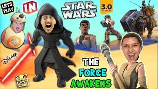 getlinkyoutube.com-Lets Play DISNEY INFINITY 3.0 - STAR WARS: The Force Awakens (Kylo Ren, Poe, Finn & Rey) w/ Skit