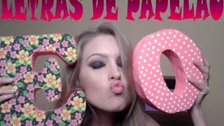 getlinkyoutube.com-DIY:: letra de papelão