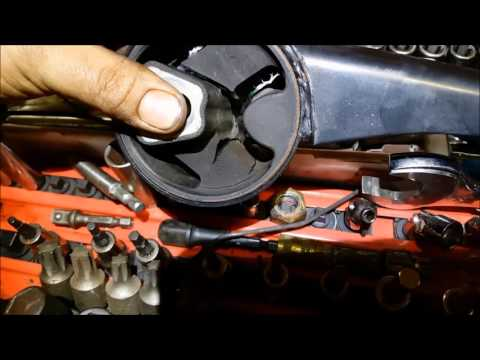 2005 to 2011 cadillac DTS top engine mount replace