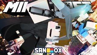 *모드 상황극* 괴도도티 샌드박스의 보물을 훔쳐라!! [마법 로프건 모드: 마인크래프트] Minecraft - Rope Bridge Mod - [도티]