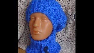getlinkyoutube.com-Съемный воротник спицами. Knitted detachable collar