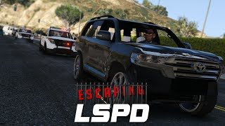 GTA 5: Escaping LSPD - Day 1 - 2016 Toyota Land Cruiser