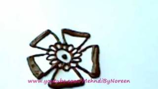 getlinkyoutube.com-How to draw a henna flower (Part 4)