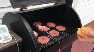 getlinkyoutube.com-How To Cook Hamburgers On a Traeger without Flipping Them