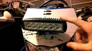 getlinkyoutube.com-SuperBright LED Trail Light from eBay on DirtBike, install and test ride! 5QJ8H