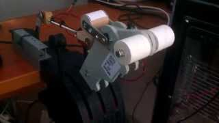 getlinkyoutube.com-FSX Home Cockpit - SAITEK Throttle MOD. Hand Made Motorized Throttle