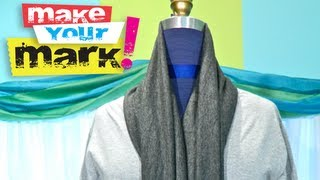 getlinkyoutube.com-How to Make a Scarf Neck Cardigan DIY