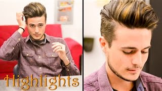 getlinkyoutube.com-Mens Hair Highlights - Natural Streaks: Mariano Di Vaio Inspired