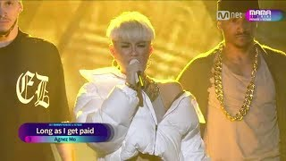 [FULL HD] AGNEZ MO PERFORM AT MAMA 2017 width=