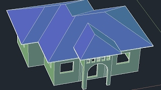 how to create 3d roof in autocad for begginers-hip roof