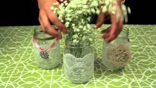 getlinkyoutube.com-How to Decorate Mason Jars for a Wedding