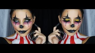 getlinkyoutube.com-Clown Face Makeup Tutorial by Tina Kosnik | TinaKpromua